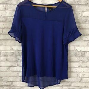 Ruffled sleeve blouse • Worthington
